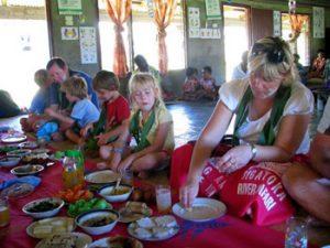 feasting on Fijian food