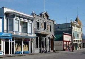 Skagway historic buildings including Arctic Brotherhood hall