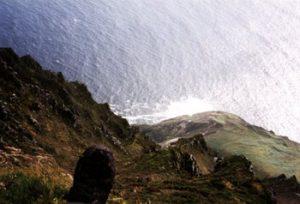 view over ledge at Slieve League cliffs