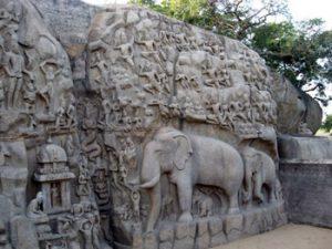 Arjuna's Penance, detail view
