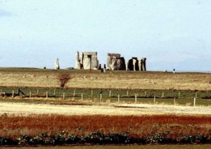 view of Stonehenge from highway