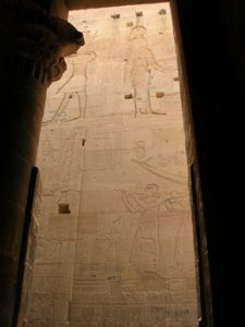 carvings at Philae temple