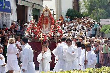 Tenerife fiesta parade