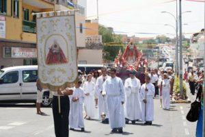 Black Madonna in Tenerife celebration