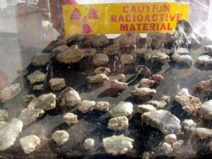 radioactive Trinitite on display