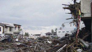 tsunami aftermath wreckage
