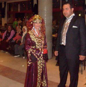 bride wearing traditional Turkish dress