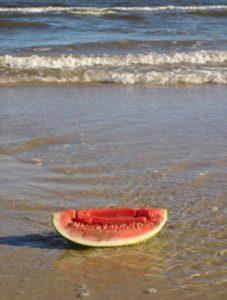 watermelon on beach