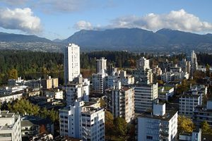 highrise buildings in Vancouver's West End