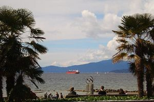 looking across English Bay towards West Vancouver