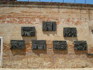 Holocaust memorial in Jewish ghetto, Venice