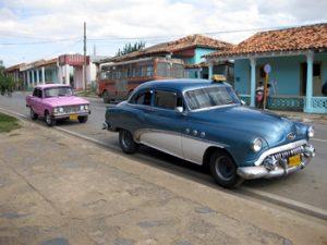 old American automobile on street in Cuba