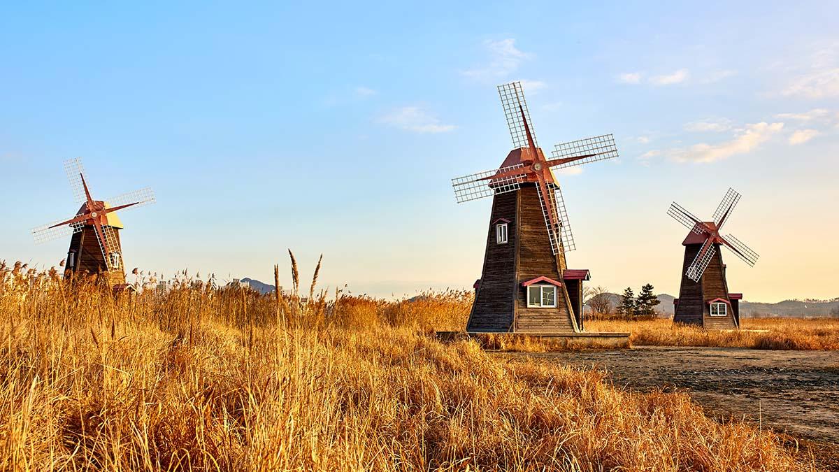 windmills in South Korea