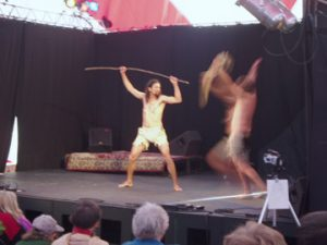performers on festival stage