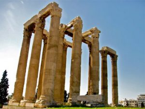 side view of Olympian Zeus temple