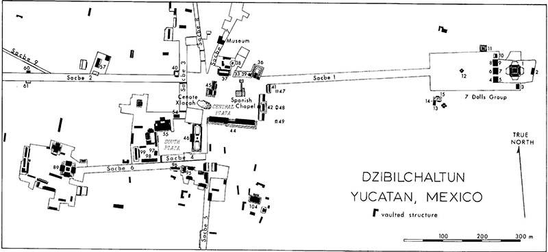 map of Dzibilchaltun