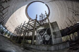 destroyed structure in Chernobyl