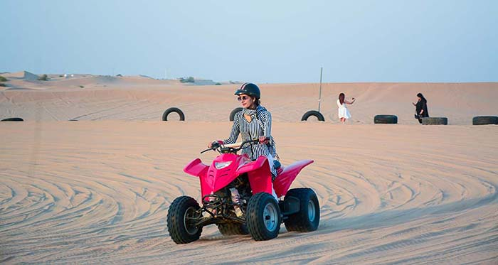 Dubai desert safari quad biking